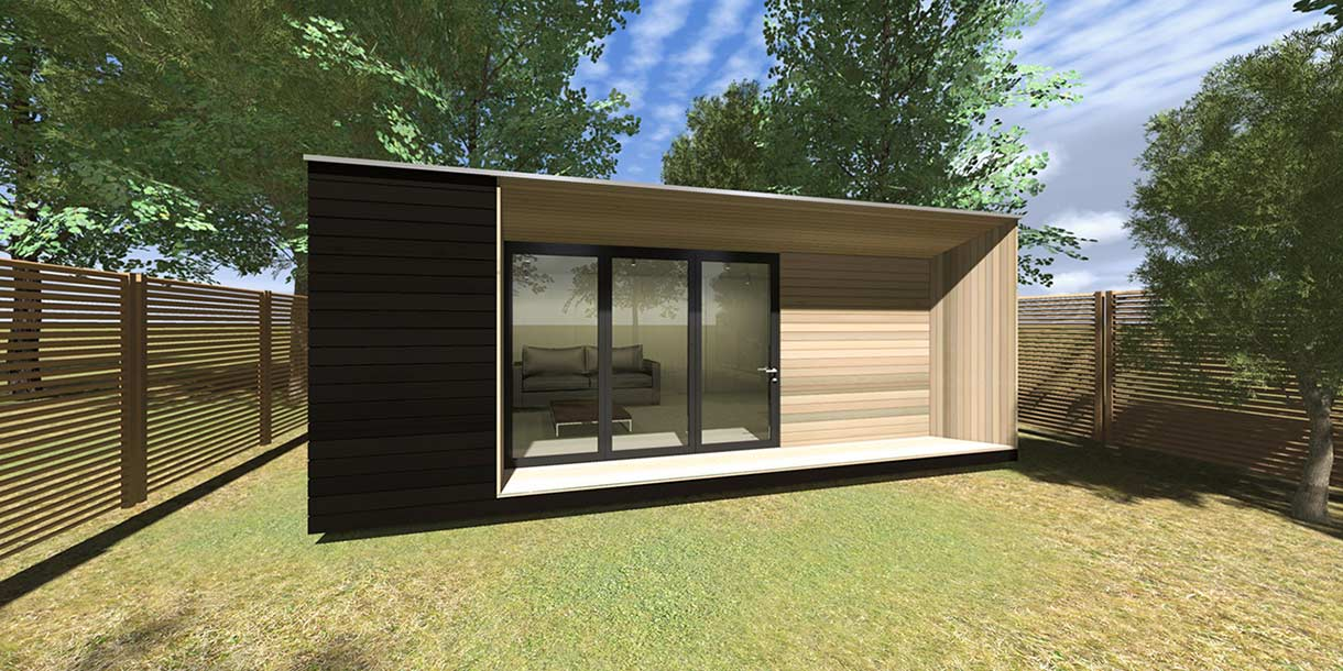 Aspect garden room 3rdspace modular garden rooms and for Prefabricated garden rooms