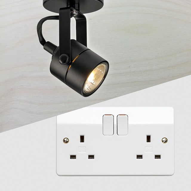 Interior lighting and power sockets