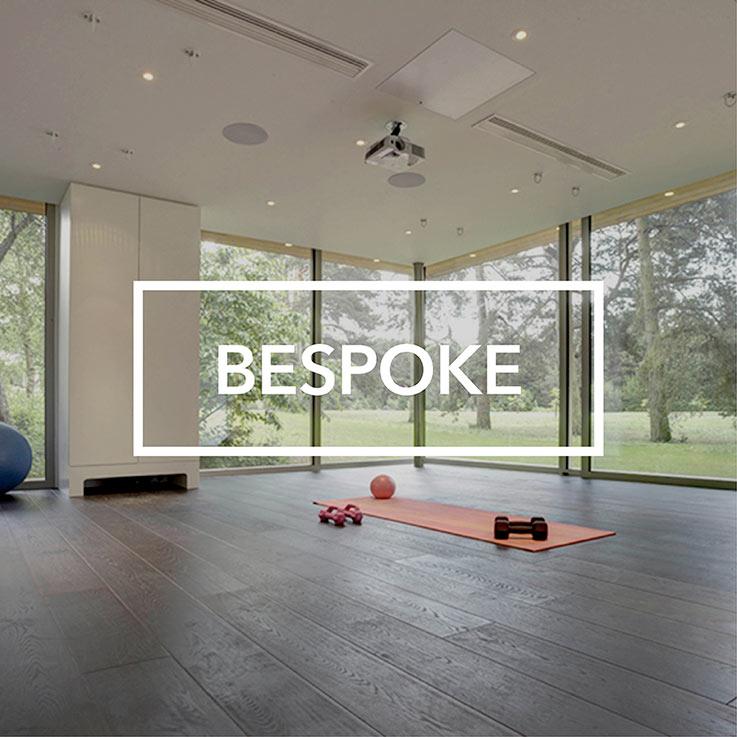Bespoke garden room pilates studio interior