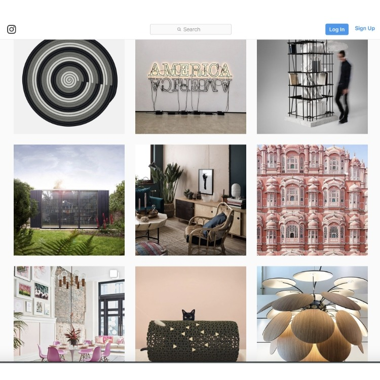 Design Milk Instagram feed
