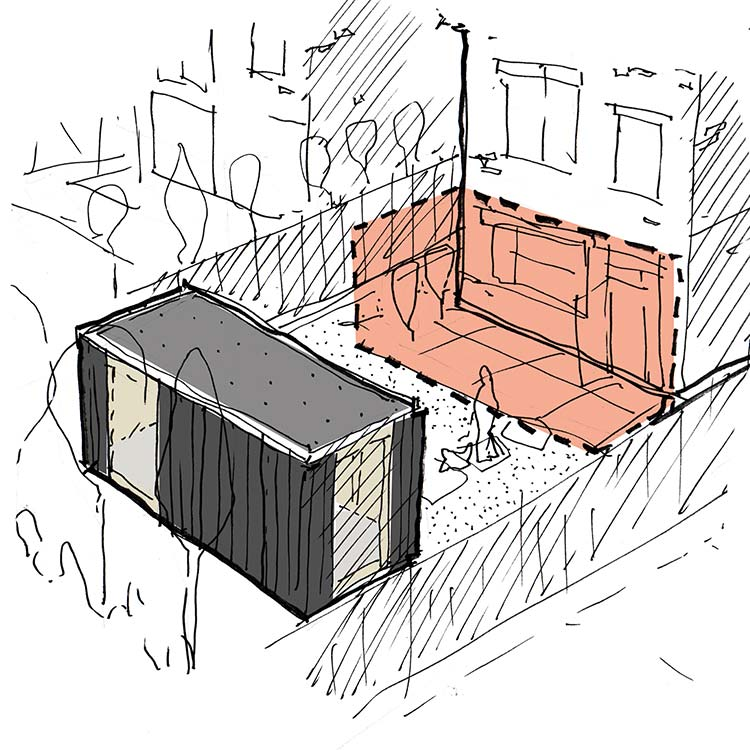 Garden room extension sketch