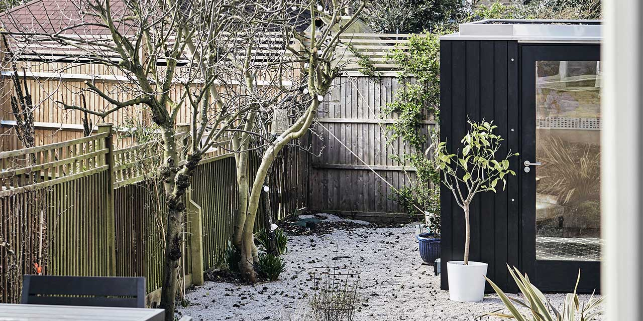 Black timber garden room