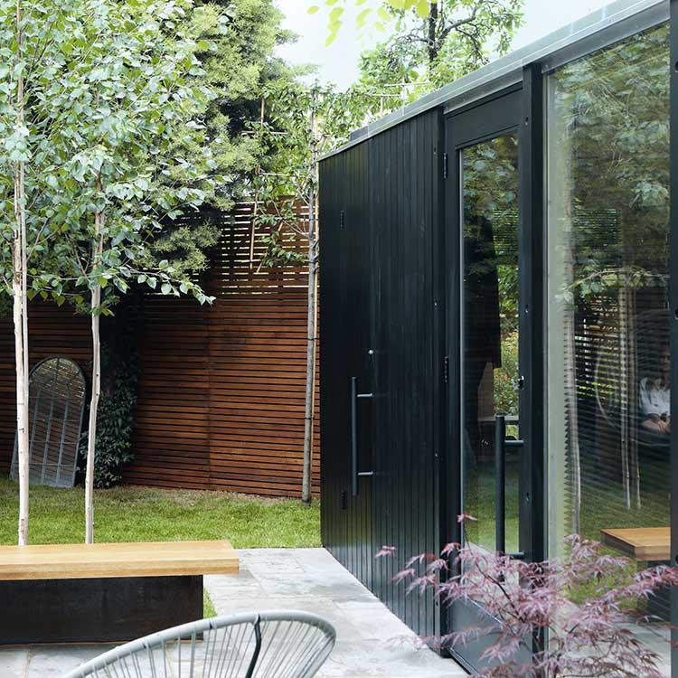 Black Modular garden gym – London