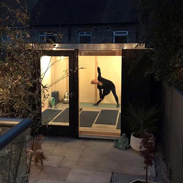 Garden yoga studio exterior