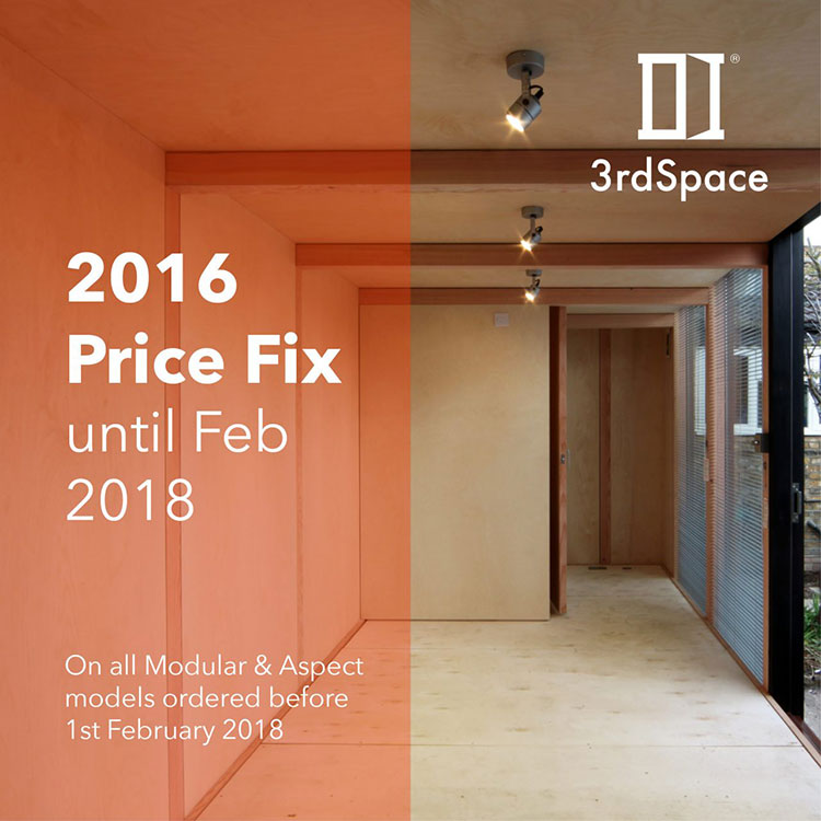January 2018 Promotion – 2016 price fix until February 2018