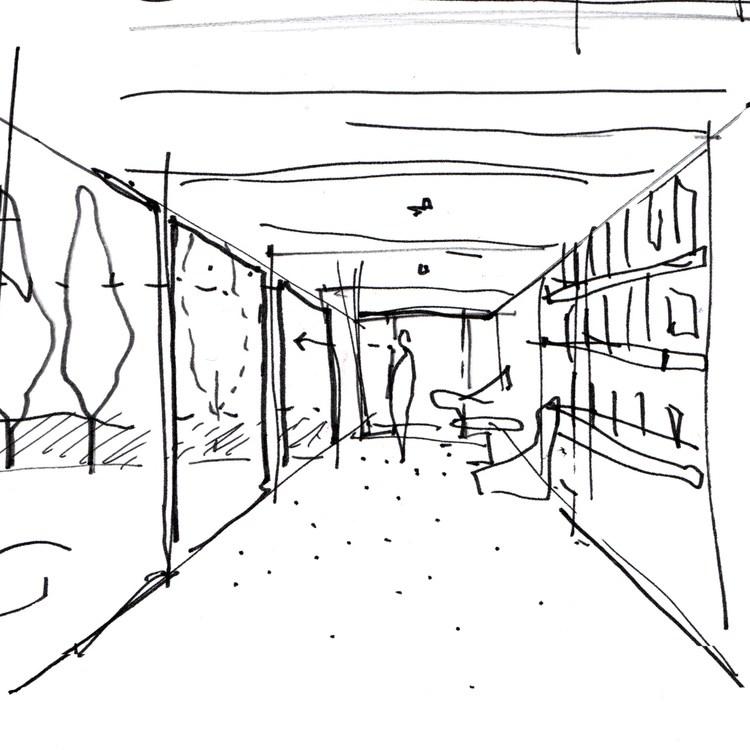 Early concept sketch of the 3rdSpace Modular garden room