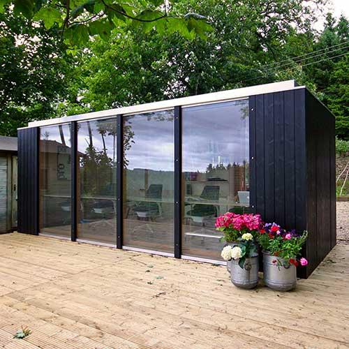 Modular garden office, Northumberland. Exterior