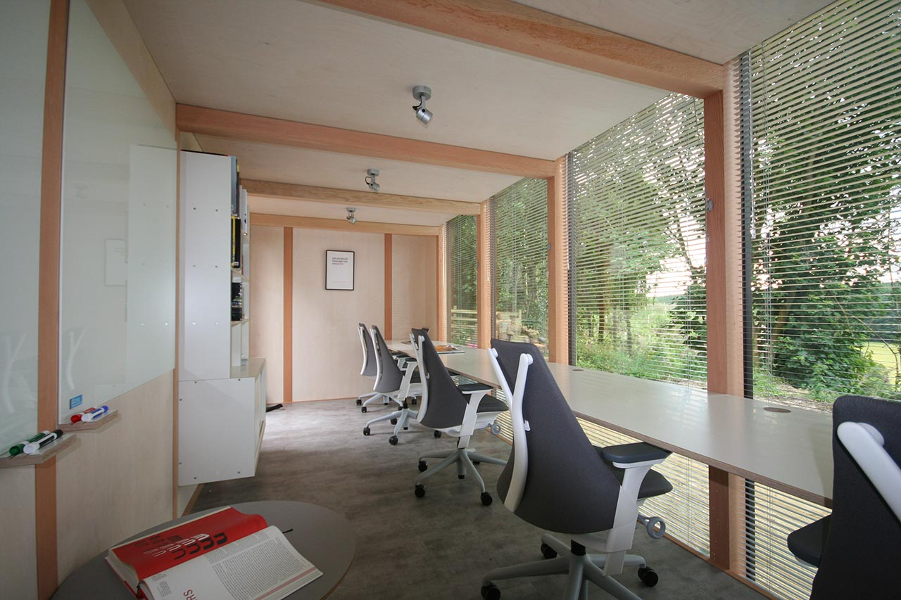Modular Garden Office, Northumberland – Interior