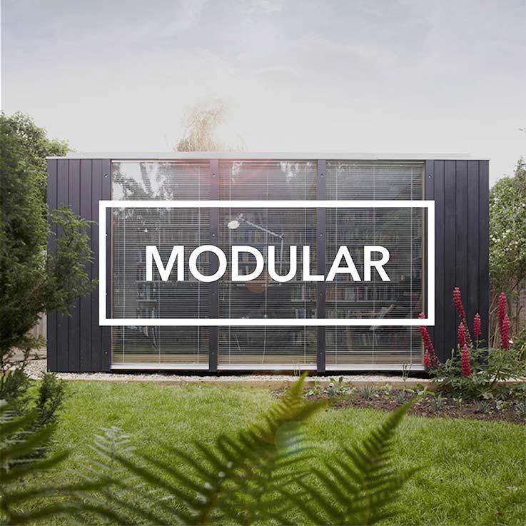 Modular garden library exterior