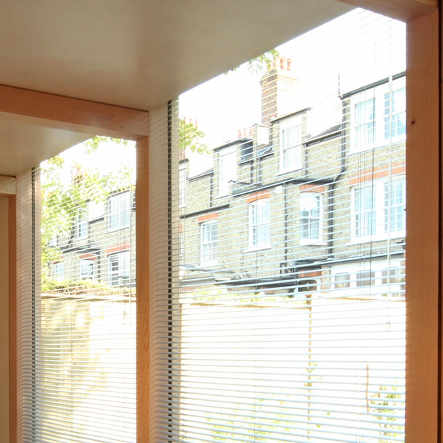 Full length aluminium blinds