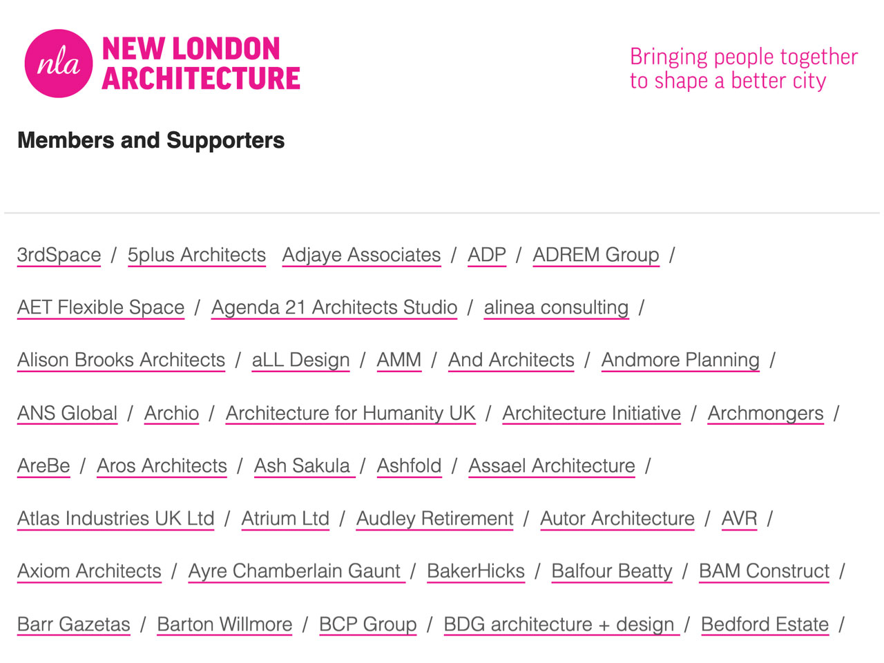 New London Architecture member list
